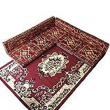 9 Teilige Set Sark Kösesi Orientalische Sitzecke, Sitzkissen Set Rot (9-tlg Set)