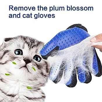 Gant de brosse pour animaux de compagnie,BUTEFO Pet Brush Gant de toilettage pour chiens Gant de déshumidification pour brosses douces et efficaces Pet Grooming (1 PCS)