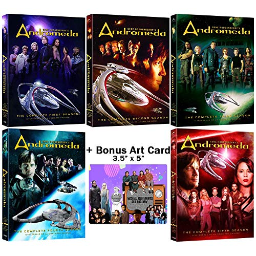 Gene Roddenberry's Andromeda: Complete TV Series Seasons 1-5 DVD Collection + Bonus Art Card