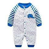Vine Pyjama Bébé Fille Garçon Grenouillère Combinaisons en Coton Bouton à Manches Longues Chaud Pyjama Déguisement 6-9 Mois
