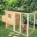 TecTake XXL Hühnerstall Hasenstall Nagerkäfig mit Freigehege und Ruhezone 205 x 75 x 103 cm von TecTake auf Du und dein Garten