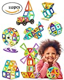 #9: Kidly Magnetic Building Blocks,Kids Magnetic Tiles Educational Construction Stacking Toys for Boys and Girls (112 Pieces)
