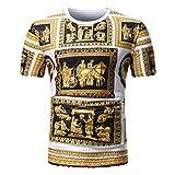 Gold Schwarz Mythos Style Print T Shirt Heißer Sommer Rundhalsausschnitt T-Shirt GreatestPAK Kurzarm Top