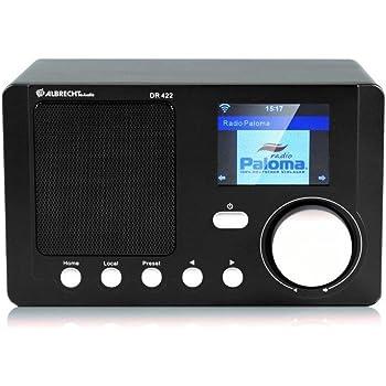 Albrecht DR 422 Internet Radio mit Farbdisplay WLAN , Wetterfunktion , DLNA , APP schwarz