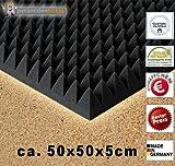 Mercancía B EN examinada Calidad OTRA VEZ hasta 50% reducido 8x Espuma Acústica aprox. 50x50x5cm, antracita negro, goma-espuma Espuma de nudos