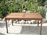 New Jersey Gartentisch Esstisch Tisch aus Hartholz für den Gartenbereich 200 x 100 cm