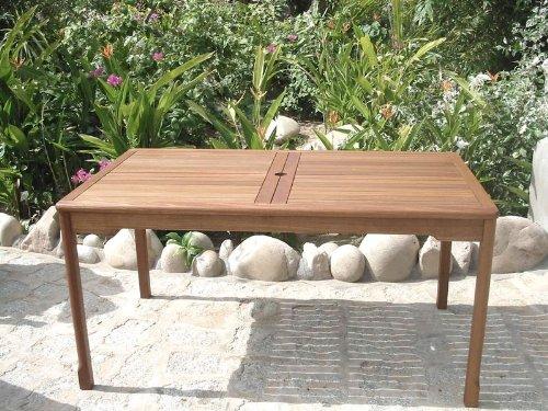 Sedex New Jersey Gartentisch Esstisch Tisch aus Hartholz für den Gartenbereich 200 x 100 cm