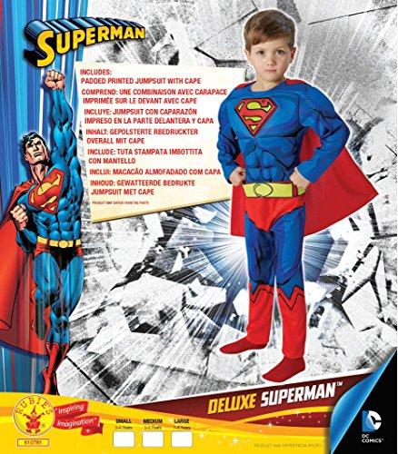 Imagen de warner  i 610781m  disfraz para niños  superman lujo cómic  talla m alternativa