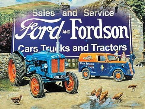 Trevor, Mitchell Ford & Fordson Tôle Nostalgie–Dimensions 70x 50cm