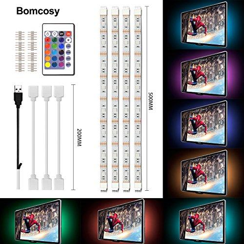 Bomcosy RGB Retroiluminación LED de TV USB corriente Control Remoto de 24...