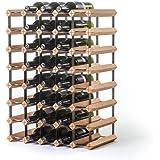 RAXI ™ Classic Premium wijnrek van hout met luxe design/flessenrek voor 40x wijnflessen