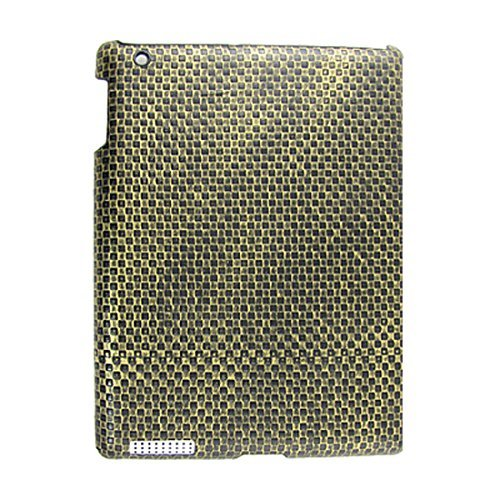 Messing Tone Black Weave hard plastic achterkant Case voor iPad 2G 2g Hard Case