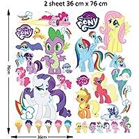 Etiquetas engomadas de la pared de My Little Pony Cartoon para los dormitorios de los niños y de las muchachas etiqueta mural Tamaño: Grande 76 cm X 72 cm