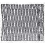 Wickelauflage, Wickelunterlage abwaschbar Größe 85 cm x 75 cm (Breite x Länge) - Grau mit weißen Sternen