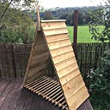 Pyramid Triangle Log Store House Shelter Treated timber