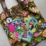 Hippie-Bag, Hippie-Tasche, Ibiza, Boho, Camouflage, UNIKAT, handbemalt