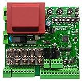 Centralina universale per 2 motori 220V adatta a cancelli a due ante battenti o scorrevoli, completa di ricevitore radio 433 Mhz universale