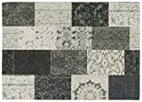Designer Teppich gemustert patchwork vintage Mona Lisa von Keen Joy K10951 Silber Grau 12 in 120x170 cm