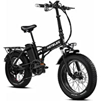 "20 Zoll Klapprad Elektrofahrrad E-Bike, 48 V 18Ah Lithiumbatterie, Faltbares E Mountain Bike mit 4"" Fettreifen, City E…"