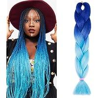 SEGO Capelli Finti per Treccine Extension Africane Trecce Afro Sintetiche 60cm Braids Hair 100g 1 Bundle Treccia Crochet…