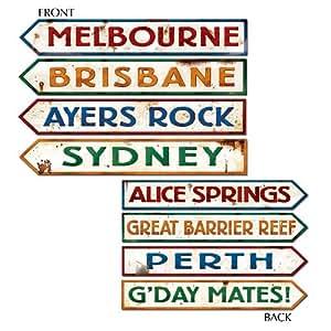 Beistle Outback Rock Weekend Critter CROSSING SIGN Einbauöffnungen 4Stück, Papier, mehrfarbig, Einzelpackung