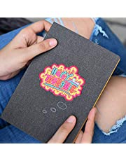 Doodle Happy Thoughts Premium Quirky Denim PU Leather B6 Diary (4.75 X 7 inches, 80 GSM, 160 Pages)