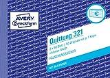 AVERY Zweckform 321 Quittung inkl. MwSt. (A6 quer, mit 1 Blatt Blaupapier, 2x50 Blatt) weiß