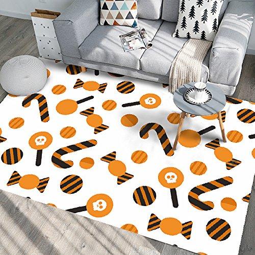 WXDD 3D-Druck Teppich, Wohnzimmer, Zimmer, Bett, Restaurant, Küche, Badezimmer, Badezimmer Tür, Fußmatte, Fußmatte, 50 cm*80 cm, Kastanie D02 -