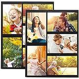 HIIMIEI Magnetischer Bilderrahmen, Magnete Fotos Rahmen für Kühlschrank und trockenes Löschen Pinnwände,Hält 5 Stück 10x15cm Fotos (2 Pack)