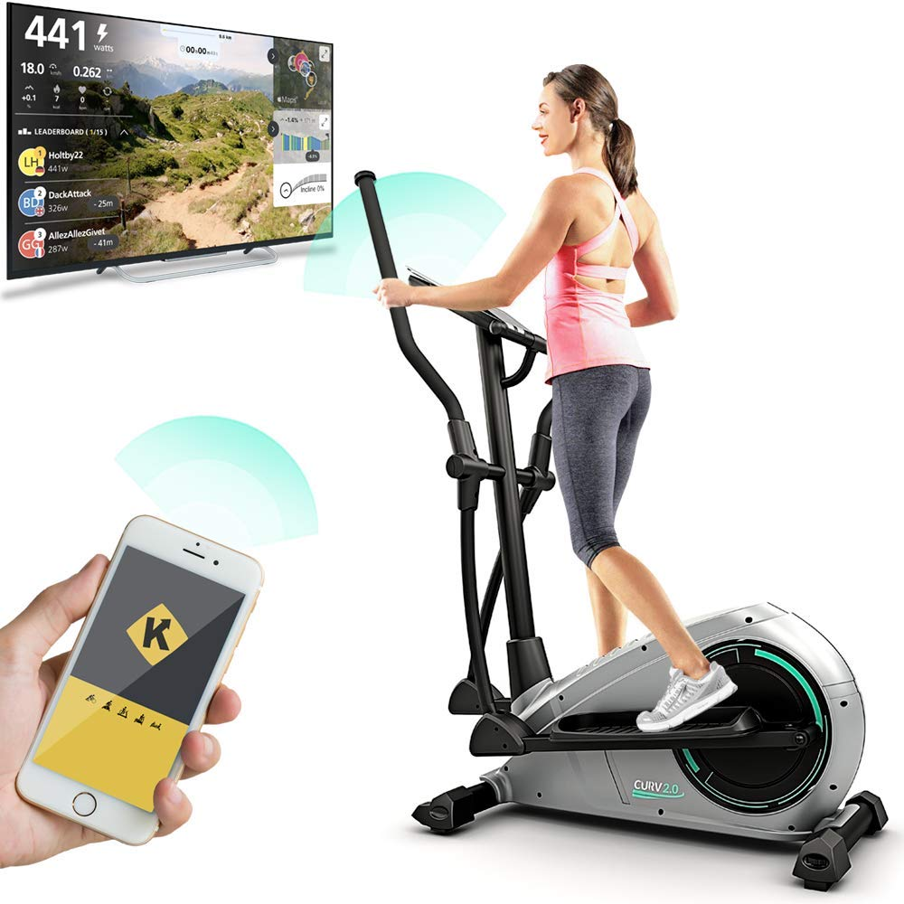 Bluefin Fitness CURV 2.0 Crosstrainer Ellipsentrainer Heimtrainer, Bluetooth, App