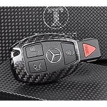 t-carbon lujo para tacos de billar (Fibra de Carbono remoto clave cadena 3K highlight polaco de protección sin llave Carcasa para Mercedes-Benz S Clase, SLS AMG, SLR, Clase