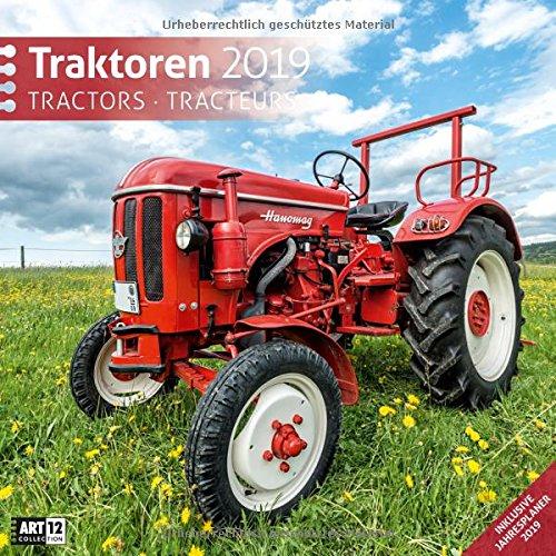 Traktoren 2019, Wandkalender/Broschürenkalender im Hochformat (aufgeklappt 30x60 cm) - Geschenk-Kalender mit Monatskalendarium zum Eintragen