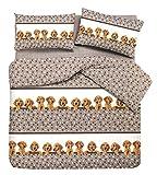 Colcha algodón Piquet Perros trébol 1 Piazza/singolo Arancio