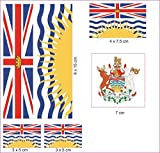 U24 Aufkleberbogen British Columbia Aufkleber Set Flagge Fahne