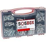 fischer SOS-box met spreidpluggen S en universele pluggen FU - voor talrijke bouwmaterialen en diverse toepassingen - incl. b