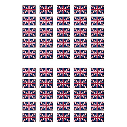 Edible Union Jack Cake Toppers