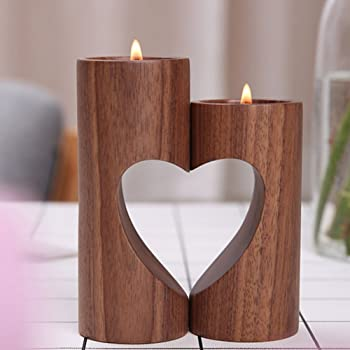 Su Luoyu Kerzenleuchter Kreativ Hollow Herzform Kerzenstander Aus