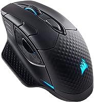 Corsair Dark Core RGB LED Bluetooth Kabellose Optische Gaming Maus 16.000 DPI, Ausführung:Dark Core RGB (Reconditionné)