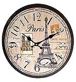 #5: Swagger European Eiffel French Vintage Wall Clock