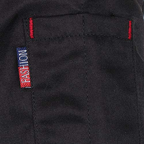 F Fityle Männer Frauen Kochjacke Langarm M-3XL Bäcker Kochhemd Bäckerjacke Kochbekleidung Gastronomie Arbeitskleidung Arbeitsjacke - Schwarz, L - 4