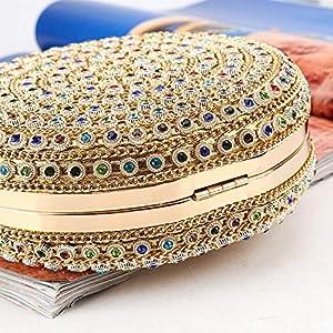 61aoWjgQBOL. SS300  - HARPIMER Mujer Monedero de embrague de bolso de noche de cristal de diamantes de imitación multicolor para boda y fiesta