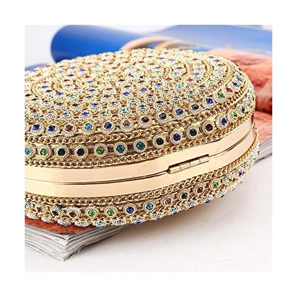 61aoWjgQBOL. SS600  - HARPIMER Mujer Monedero de embrague de bolso de noche de cristal de diamantes de imitación multicolor para boda y fiesta