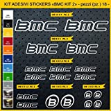 Stickers vélo BMC_ KIT 2 Kit stickers 18 pièces - Choisir immédiatement Colore- Bike Cycle pegatina Cod.0844 (090 ARGENTO)...