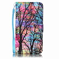 Samsung Galaxy A5 2016 Model/A510 case [With Tempered Glass Screen Protector],Grandoin Retro Leather Folio Bumper Case ,Excellent Quality Colorful Elegante Pattern Design Premium PU Closure Exact Fit Strap Leather Wallet Protective Flip Case Cover for Samsung Galaxy A5 2016 Model/A510 with [Credit C