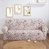 Sofaüberwurf Sofabezug stretch Abziehbild Sofabezug Muster Sofa Slipcover elastische Sofahusse (3 Sitzer für Sofalänge 185-230cm, Stil 2)