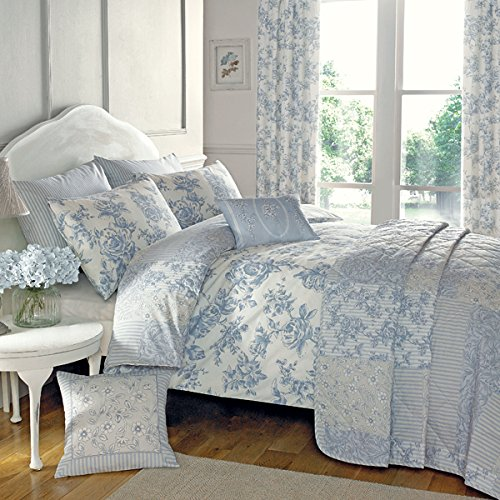 DREAMS AND DRAPES Dreams & Drapes – Malton – Ready Made Lined Pencil Pleat Curtains – 66×72 (168 x 183cm), Blue