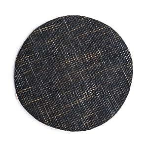 Möbelbär 5052-60-12 Kissenhülle Magma Chenille Webstoff rund 60 cm, Brown Blue