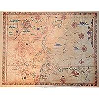 Carte nautiche da antichi atlanti del 1600. - Carta Nautica