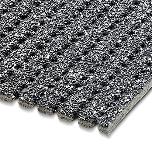 etm Sicherheitsmatte gegen Glätte | Grau | rutschfeste Granulat Beschichtung | deutsches Qualitätsprodukt | 120 cm Breite | 1 m Länge