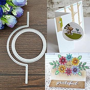 Album Karten Ringe zum Basteln Papier f/ür Hochzeit Mothcattl Stanzschablone f/ür Scrapbooks zum Basteln von Karten Metall Dekoration.